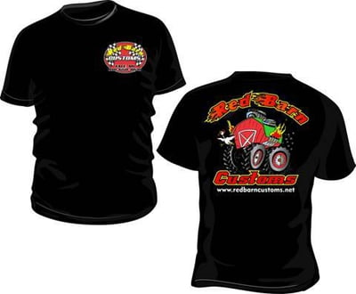 "RED BARN CUSTOMS ""BLACK T-SHIRTS"""